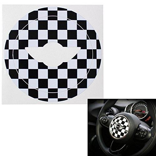 ijdmtoy-checkered-pattern-decal-sticker-for-2nd-gen-2007-2013-2014-mini-cooper-steering-wheel