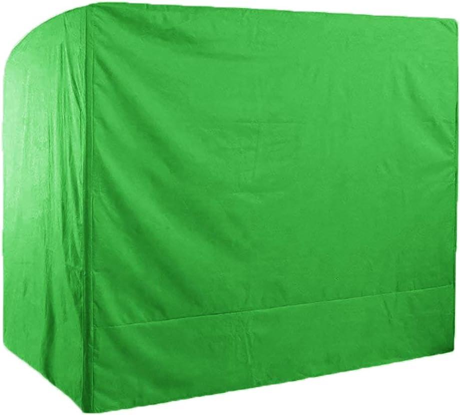 SHGDDYSB - Funda protectora para columpio de 3 plazas, 220 x 125 x 170 cm, para muebles de jardín, resistente al agua, para muebles rectangulares, mesas de jardín y muebles (verde)