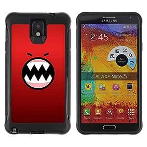 Suave TPU GEL Carcasa Funda Silicona Blando Estuche Caso de protección (para) Samsung Note 3 / CECELL Phone case / / Angry Face Cartoon Teeth Character /