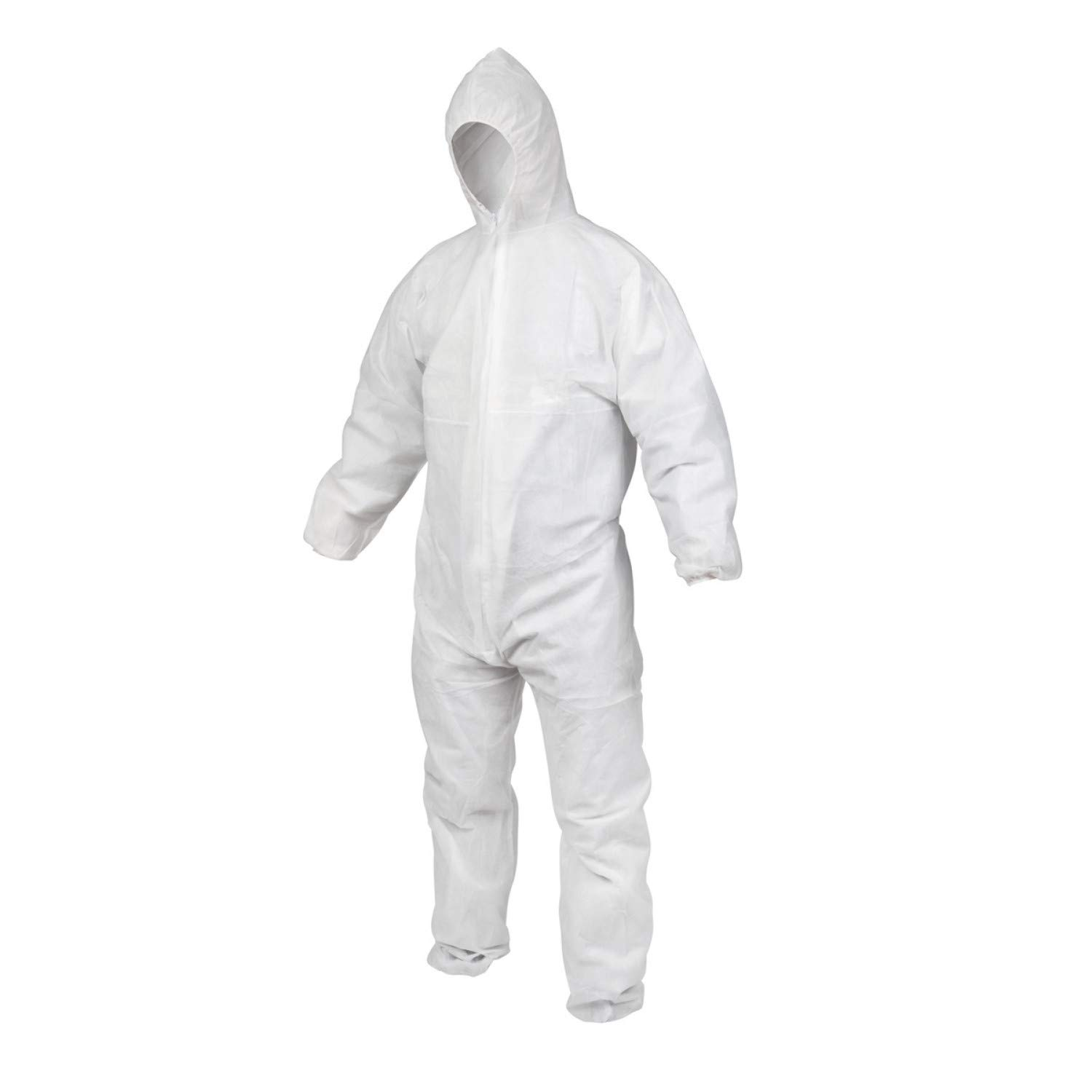 Microsafe 10 x Pack Unisex Disposable Coveralls Light Duty Polypropylene Overalls