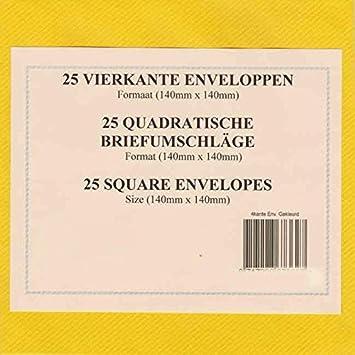 25 Buste quadrate 100 g//mq diverse Colori a scelta Blu scuro Tophobby 14 x 14 cm