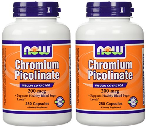 Now Foods Chromium Picolinate 200mcg-250 Capsules- 2-pack For Sale