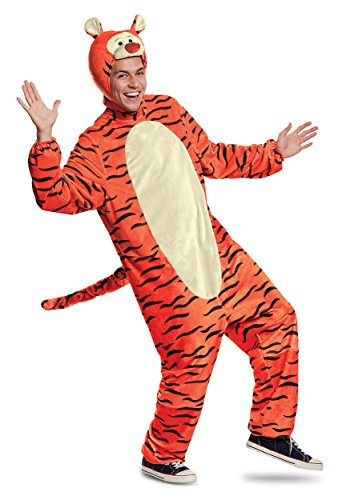 (Disguise Fun Costumes Winnie The Pooh Deluxe Tigger Adult Costume -)