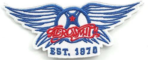 AEROSMITH【バンド アイロン ワッペン/エアロスミス AEROSMITH EST. 1970 /ブルー × レッド ×