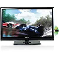AXESS TVD1801-19 19-Inch LED HDTV, Features 12V Car Cord Technology, VGA/HDMI/SD/USB Inputs, Built-In DVD Player, Full Function Remote