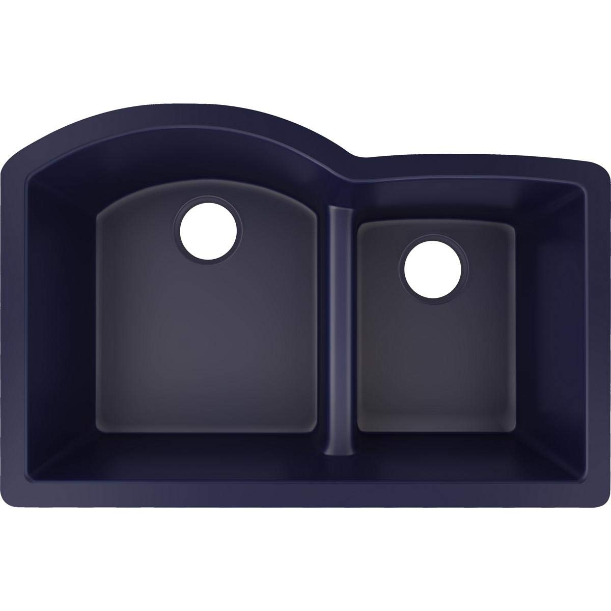 Elkay Quartz Luxe ELXHU3322RJB0 Jubilee Offset 60/40 Double Bowl Undermount Sink with Aqua Divide,