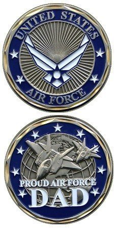 U.S. Air Force Proud Air Force Dad Challenge - Force Coin Air