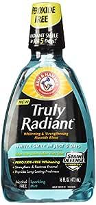 Arm & Hammer Truly Radiant Whitening & Strengthening Sparkling Mint Fluoride Rinse, 16 Fl Oz