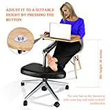 RoomyRoc Mobile Laptop Desk/Cart/Stand with Adjustable Tabletop and Footrest Computer Table (Black)