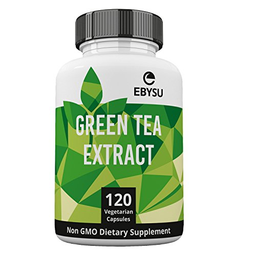 EBYSU Green Tea Extract w/ EGCG - 500mg - 120 Day Supply - Natural Caffeine Source & Metabolism Booster Supplement Capsules for Weight Loss
