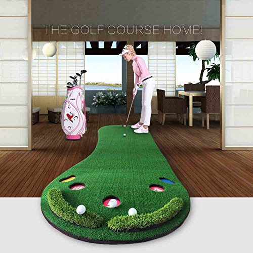 Golf Putting Green By New Brand PGM,3.28FTX9.84FT,Premium EVA Backing Allows Roll Up, No Creases, More Holes by PGM (Image #4)