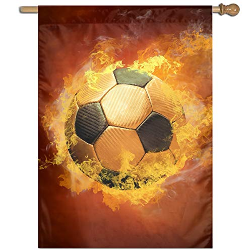 YUANSHAN Single Print Home Garden Flag Fire Football Polyester Indoor/Outdoor Wall Banners Decorative Flag 27