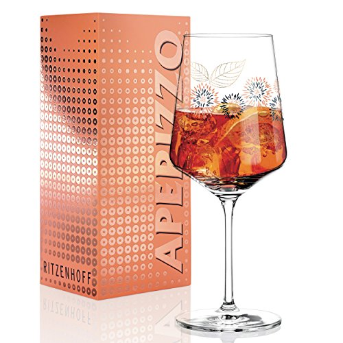 Ritzenhoff Aperizzo Aperitif Glass by Ramona Rose Wreath Glass 600ml Elegant Gold Sides