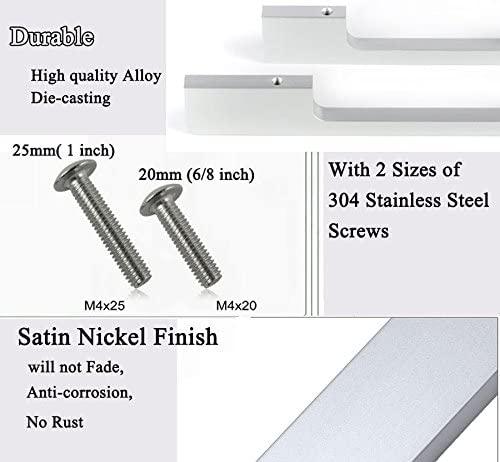 Center To Center,Satin Nickel 5 of Pack 150mm Silver Cabinet Knob and Pulls,Alloy Die-Cast Drawer Handles HiFey 6 for Kitchen and Bathroom Cupboards Drawers Dressers Cabinets 5 128mm
