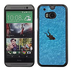 GoGoMobile Slim Protector Hard Shell Cover Case // M00124116 Frog Swimming Pool Swimming Animals // HTC One M8