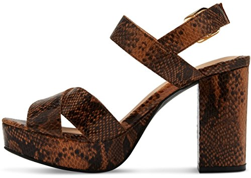 Platform Mossimo Harlee Women's Black Cognac Heeled Sandals OwP8xqg