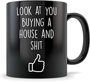 Future Homeowner Gifts - New House Mug Congrats - Coffee Cup for Men and Women Buying Their First Home - Funny First Time Homebuyer Congratulations