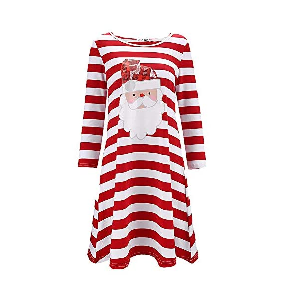 Plus Size Santa Print Dress