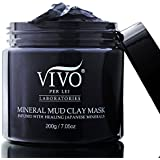 Vivo Per Lei Mineral Clay Face and Body Mud Mask for Pores, Breakouts and Blackheads, Suits Sensitive Skin and Smells Great, 200 g/ 7.05 oz (1 Pack)
