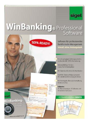 Sigel SW235 WinBanking Professional, Software für Bankformular-Management, inkl. 60 Bankformulare