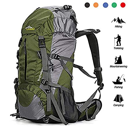 Loowoko Hiking Backpack 50L Travel Camping Backpack...