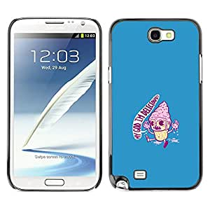 Stuss Case / Funda Carcasa protectora - I'M Delicious Ice Cream - Funny - Samsung Note 2 N7100