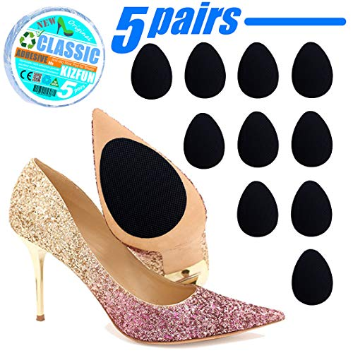 High Heels Adhesive Anti-Slip Stick Grip Pad, Shoe Soles Stick Protector Skid Proof Self-Adhesive Upgraded, Keep High Heels/Shoes from Slipping (5 Pairs)