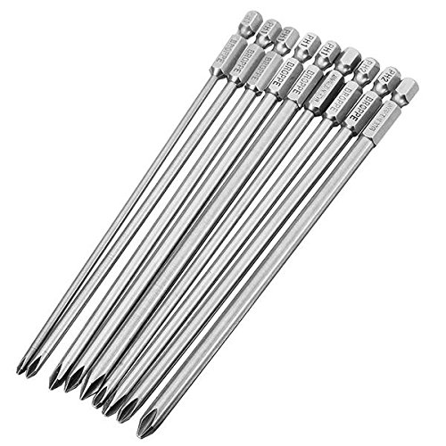 150 Mm Shank - 9pcs 150mm Cross Head Screwdriver Bits Long Shank - Power Tool Parts Screwdriver Bits - 1 x 150mmΦ3.0PH1 cross screwdriver bit