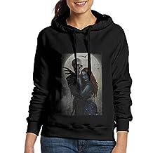 Nightmare Before Christmas Halloween Womens Pullover Hooded Long Sleeve Hoodie Sweatshirt Black