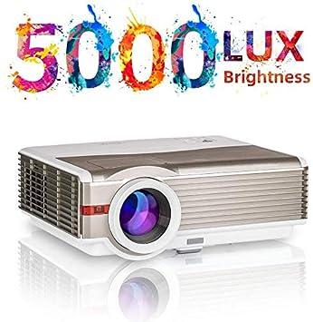 5000 lúmenes Proyector Cine en Casa, Soportado Full HD 1080P 200 ...