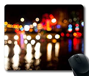 Broadway Night Bokeh Cool Comfortable Gaming Mouse Pad by icecream design