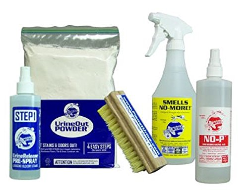 Small Hard Surface Cleaning Kit II - Pet Urine Odor Removal, Urine Remover & Eliminator - Dog & Cat Stain & Pee Cleaner Solution for Hardwood & Tile