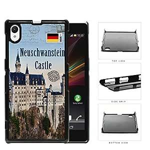 Neuschwanstein Castle Postcard Schwangau Germany Hard Plastic Snap On Cell Phone Case Sony Xperia Z1 by lolosakes