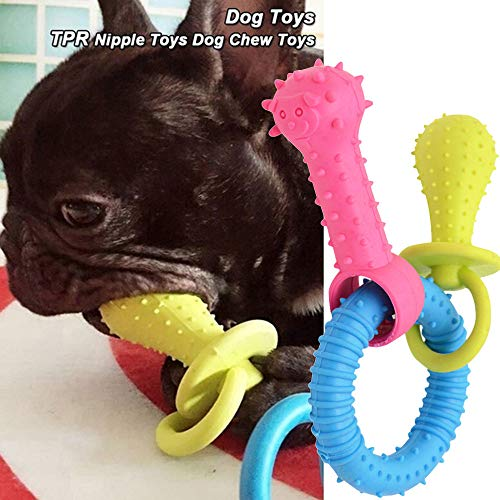 Puppy Rubber Dental Teeth Chew Bone Play Training Fetch Fun Toys