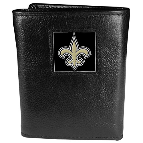 NFL New Orleans Saints Genuine Leather Tri-fold Wallet -
