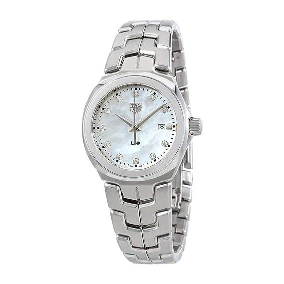 1eb0b1eeb95 Tag Heuer Link Mother of Pearl Diamond Dial Ladies Watch WBC1312.BA0600   Amazon.ca  Watches