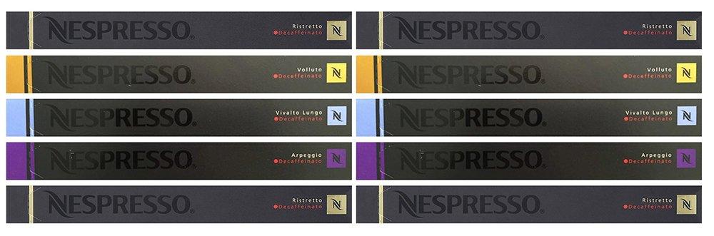 Nespresso OriginalLine Capsules: Decaffeinated Mixed Variety, 100 Capsules - ''NOT compatible with Vertuoline''