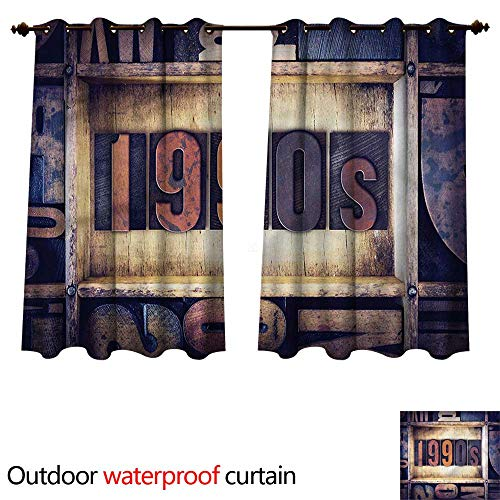 cobeDecor 90s Outdoor Curtains for Patio Sheer 1990s