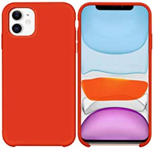 Soft Flexible Silicone Cover, Soft Fur Lining (Microfiber) Matte Color for Apple iPhone 11