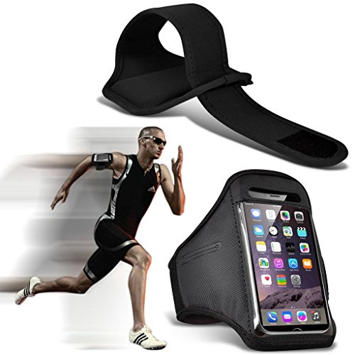 I-Sonite (Black) Adjustable Sweatproof/Water Resistent Sports Fitness Running Cycling Gym Armband Phone Case For Nokia 3310 ()
