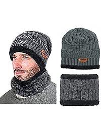 YASSUN - Collar de punto para sombrero de Joker de invierno, de punto, versátil, a la moda, de invierno, de 11 x 9.43 x 1.18 pulgadas (gris)
