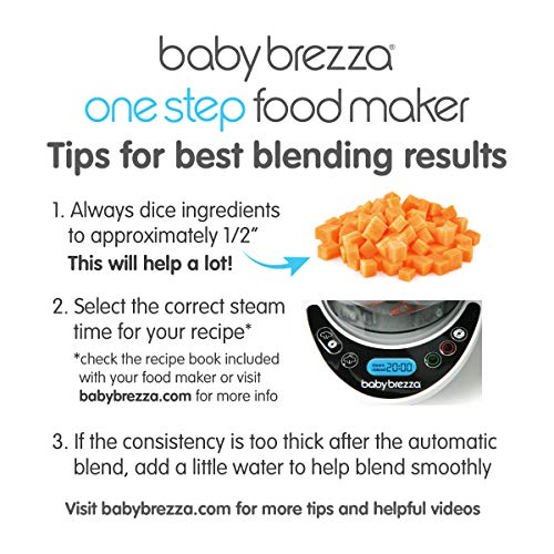 51W6dikhH5L - Baby Brezza Glass Baby Food Maker – Cooker And Blender To Steam And Puree Baby Food For Pouches In Glass Bowl - Make Organic Food For Infants And Toddlers – 4 Cup Capacity