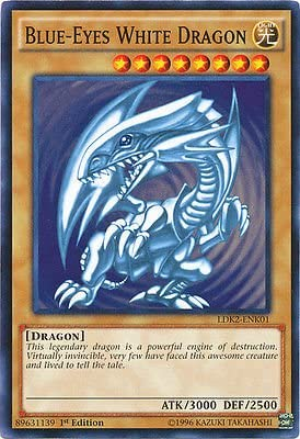 YU-GI-OH! Yugioh 1st Ed Blue-Eyes White Dragon SDK Art LDK2-ENK01 Common  1st Edition Legendary Decks II Cards: Amazon.co.uk: Toys & Games