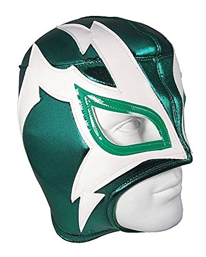 Del Mex Lucha Libre Adult Luchador Mexican Wrestling Mask Costume (Shocker (Green/White)) -