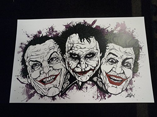 """The Faces of the Joker !!LIMITED EDITION PRINT 11"""" By 17"""" 'THE ART OF OLD SCHOOL 'approved Dealer"""