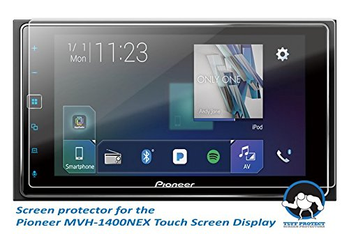Tuff Protect Crystal Clear Screen Protectors for Pioneer MVH-1400nex Car-Indash Receiver