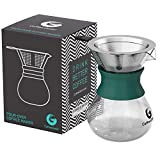 Pour Over Coffee Maker For Perfect Hand Drip Coffee. 1-2 Cup 10oz...