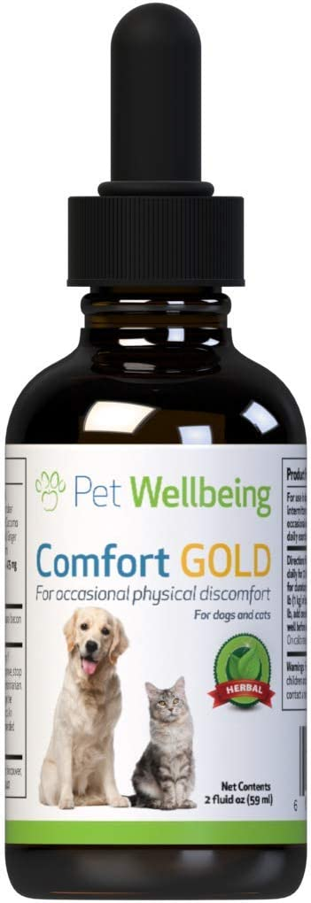 Pet Wellbeing - Comfort Gold for Cats - Natural Pain Relief for Feline Discomfort - 2oz (59ml)