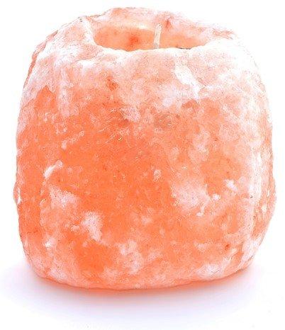 (Himalayan Secrets Himalayan Salt Natural Tealight Candle Holder- Medium 4-5 Lbs- Includes One Tealight Candle (Medium 4-5Lbs))