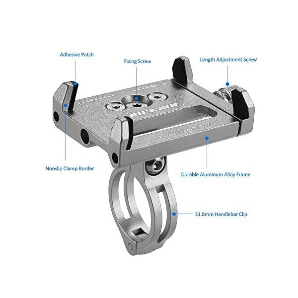 HOOMBOOM Porta Telefono Bici GUB Mountian Bici Telefono Montare Universale Regolabile Bicicletta Cellulare GPS Culla… 3 spesavip